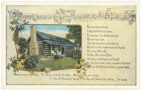 my kentucky home song lyrics kentucky digital library