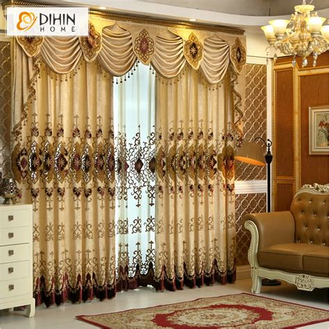 valances for room dihin home new arrival europen beaded curtain valance embroidery curtains for living room