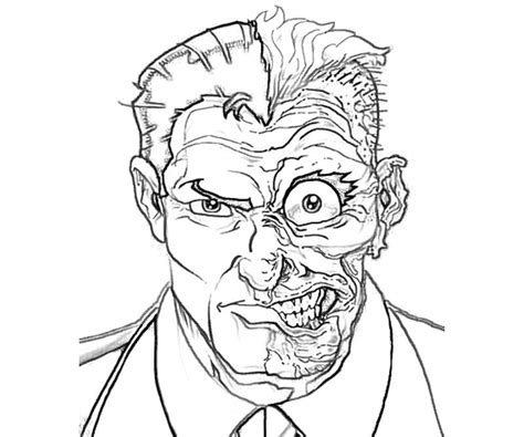 free batman and two face coloring pages