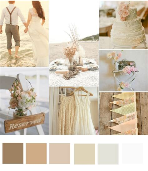 rustic color scheme colour schemes different grades of nude and blush pink
