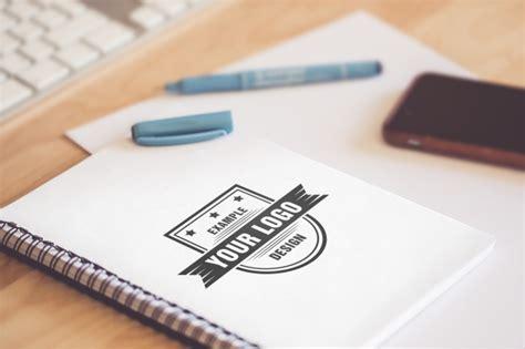 design mockup online logo on sketchbook online mockup template mediamodifier