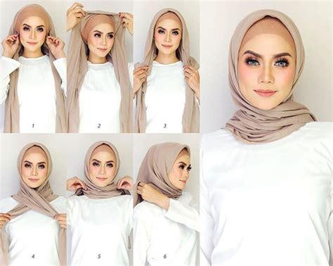 tutorial hijab simple 201 best images about hijab tutorials on pinterest