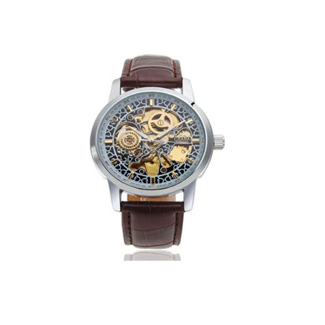 classic automatic self winding mechanical leather