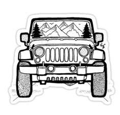 Sticker Für Motorräder by Jeep Wrangler Coloring Page For The Kids Jeep
