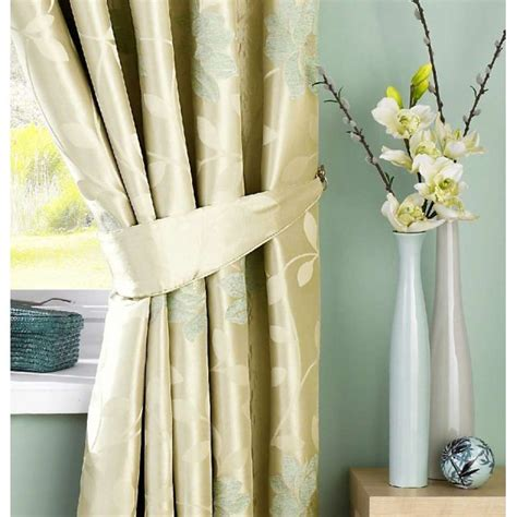 floral ready made curtains uk sundour carnaby duck egg floral pencil pleat ready made