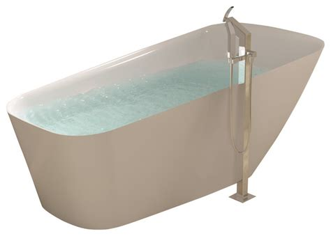 bathtub stand alone adm white stand alone solid surface stone resin bathtub