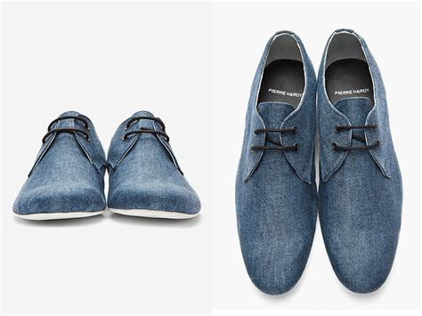 hardy made in denim mens derby shoes denim