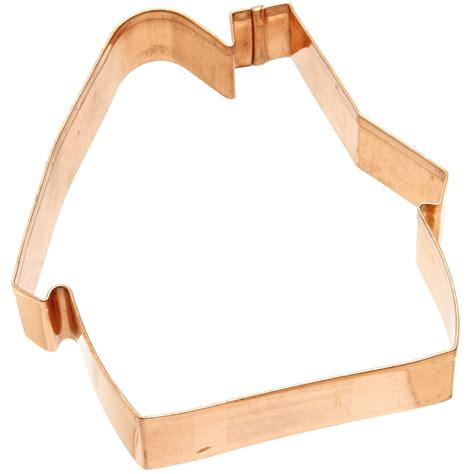 house shaped cookie cutter old river road gingerbread house shaped cookie cutter biscuit mold jello copper ebay
