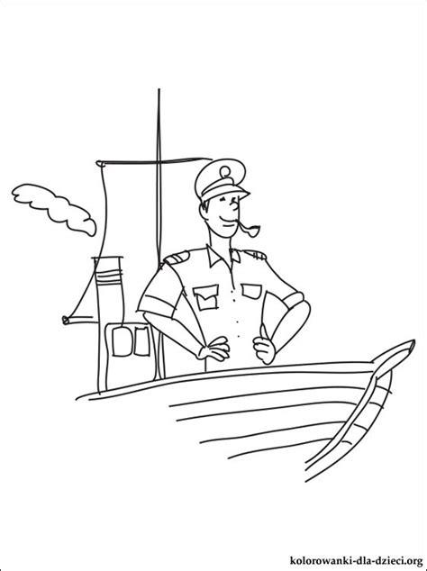 pilot morski kolorowanka kolorowanki dla dzieci