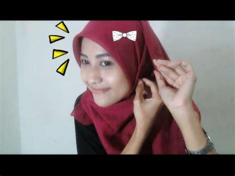 tutorial hijab casual untuk kuliah hijab tutorial paris segi empat casual and simple untuk