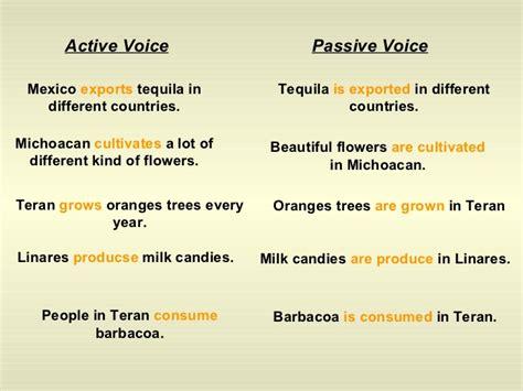exle of passive voice passive voice