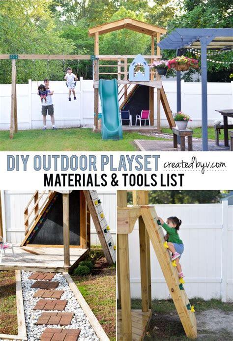 Diy Backyard Playset by Diy Outdoor Playset Materials Tools List Outdoor Playset And Backyard
