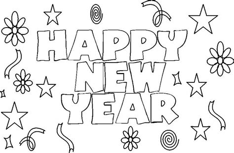 coloring pages for new years happy new year 2017 coloring pages coloring home
