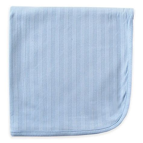 Kotton Mill Organic Baby Blanket Blue 1 baby blankets gt babyvision 174 touched by nature organic cotton blanket in blue from buy buy baby