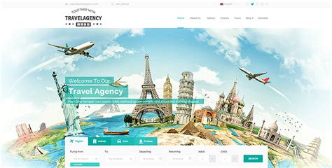 Travel Agency website template (theme)   Gridgum
