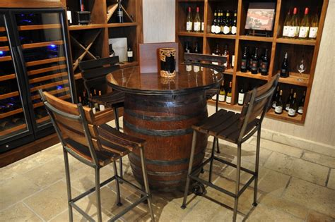 wine barrel bar table wine barrel table