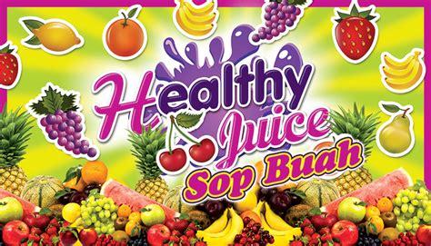 desain banner jus buah spanduk jus buah segar