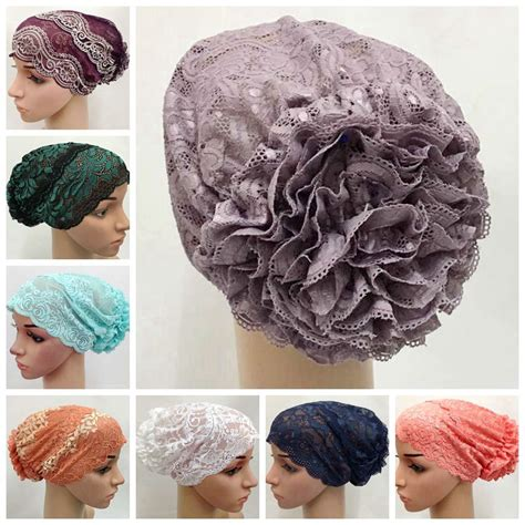 hijab underscarf pattern aliexpress com buy free shipping flower lace cap yoga
