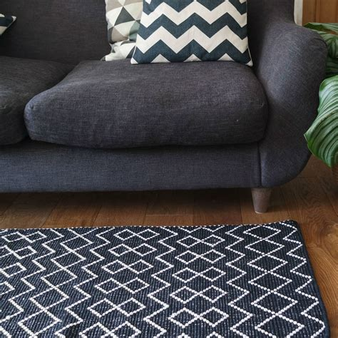 cotton runner rug tunis cotton runner rug by peastyle notonthehighstreet