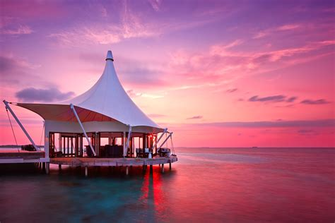 05 Set Sunset Pink Muda the maldives landscapes from paradise on earth