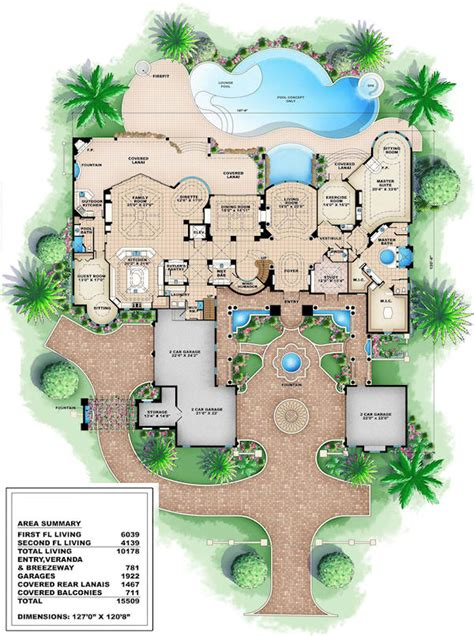 Luxury Home Blueprints | house plans luxury house plans