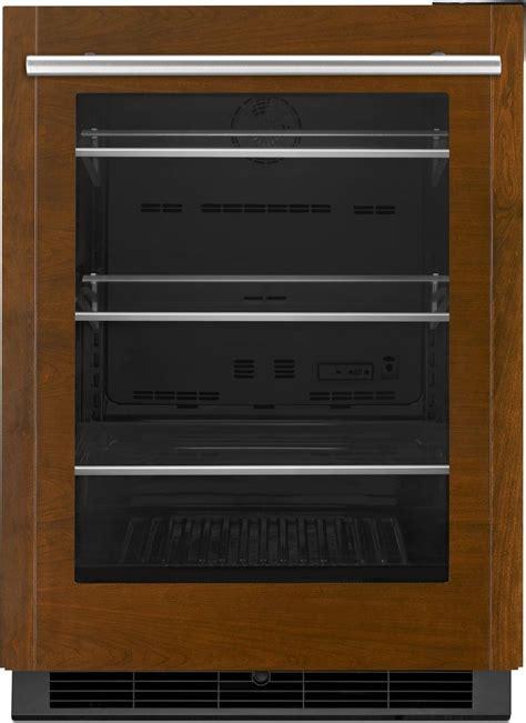 panel ready door refrigerator jug24frecx jenn air 24 quot glass door undercounter