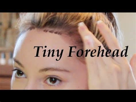 hairstyles for making head look wider get a tiny forehead tutorial lower hairline youtube