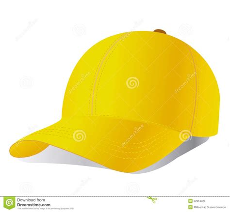 vector yellow baseball cap stock images image 22314724