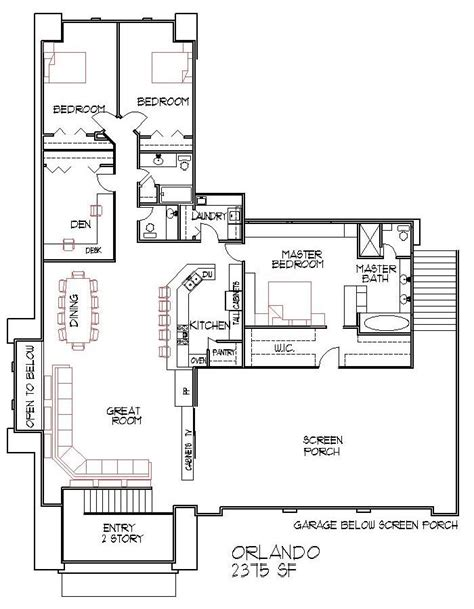 4 bedroom split floor plan modern house floor plans 4 bedroom 2500 square feet split