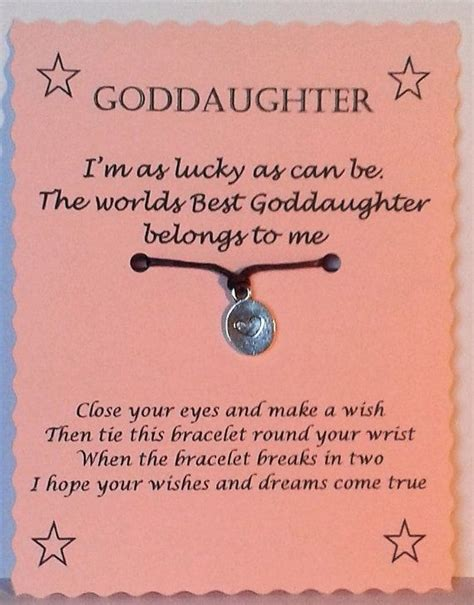 Wedding Wishes Goddaughter by Goddaughter Gift Goddaughter Bracelet String Wish By
