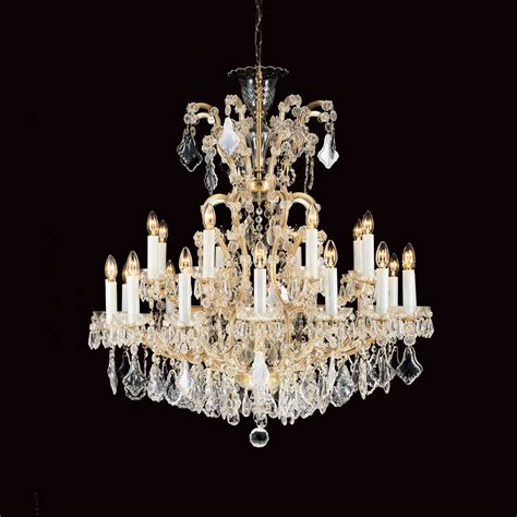 Preciosa Chandeliers Impex Cb145311 25 Preciosa 25 Light Chandelier