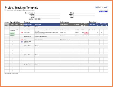 Excel Spreadsheet For Project Management by 8 Excel Project Management Spreadsheet Excel