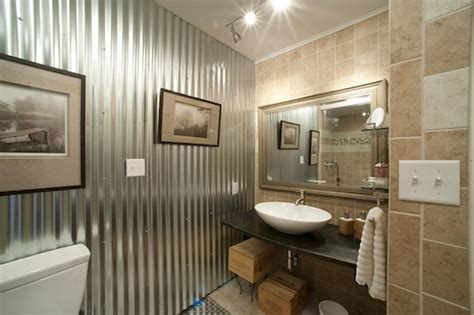 Corrugated Metal Bathroom by Corrugated Metal In Interior Design Creative Ideas For Home Decors