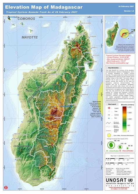physical map of madagascar physical geographic features landforms of madagascar