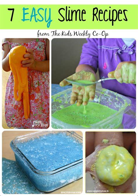 easy slime recipes   kids weekly  op mess