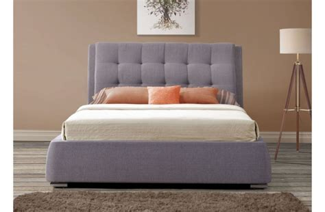 Fabric Bed Frame With Drawers Birlea Mayfair 5ft Kingsize Grey Fabric Bed Frame With 4