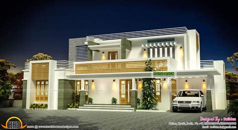 exterior house plan flat roof contemporary home exterior plan kerala home