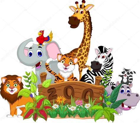 imagenes de animales de zoologico animados parque zool 243 gico y los animales de dibujos animados