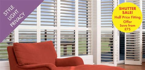 Shutters Sale Shutter Sale Half Price Fitting Offer Ascot Berkshire