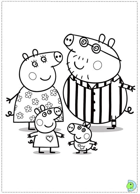 peppa pig drawing templates color peppa pig printable coloring page coloring pages