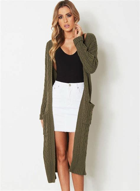 women s women s fashion long sleeve open front longline cardigan