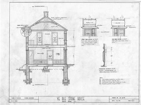 drawing cross sections cross section details michael braun house rowan county