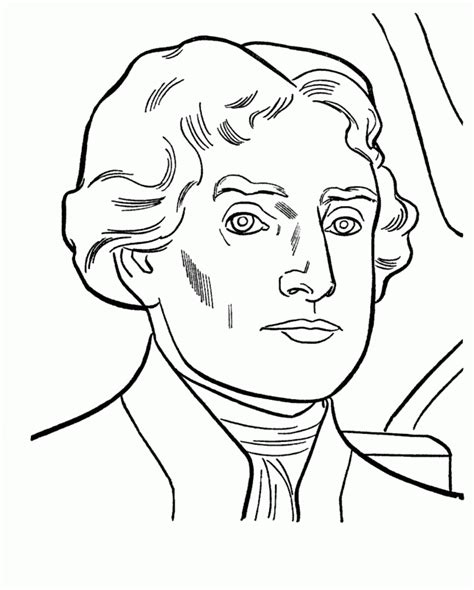 thomas jefferson coloring pages coloring home