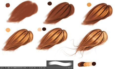 paint tool sai realistic hair tutorial hair technique by ryky on deviantart