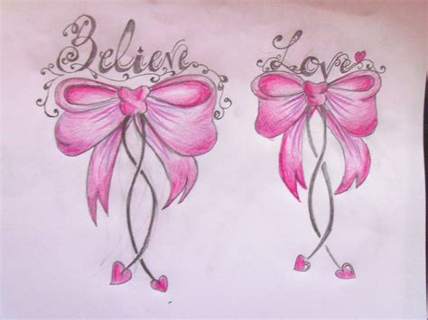 pink bow tattoo designs bow images designs