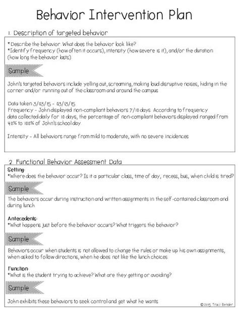 behaviour guidance plan template 25 best ideas about behavior interventions on