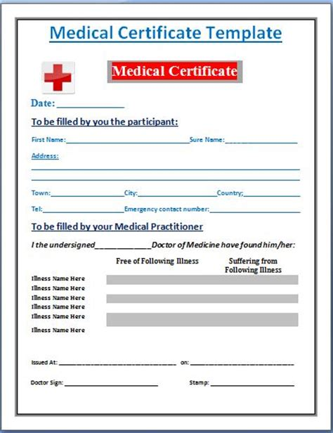 sle of medical certificate from doctor search results