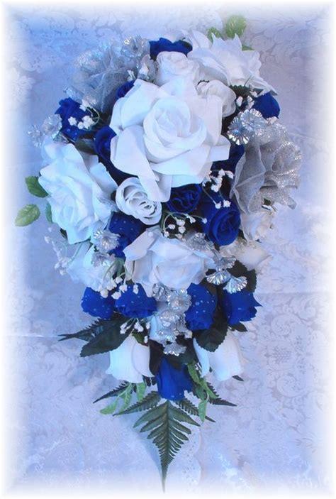 Gelang Blue Goldsand 8 Mm 1 silk wedding bridal bouquet flower royal blue 13pc weddings royal blue weddings and wedding