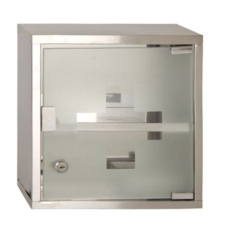 Metal Wall Mounted Lockable Medicine Cabinet Cupboard