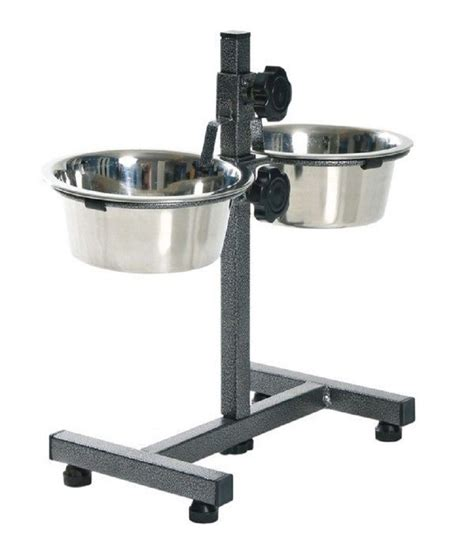 food bowl stand petshop7 adjustable food bowl stand 1020 ml each small stainless steel feeding